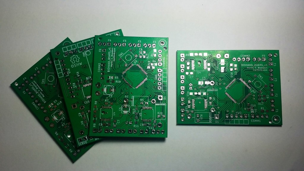 Biohand bare boards